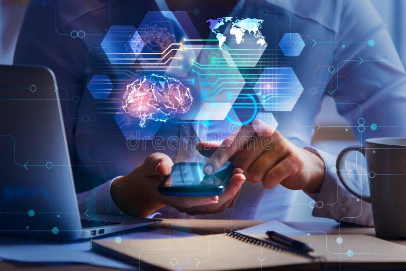 Conceito da inteligência artificial e da tecnologia foto de stock royalty free
