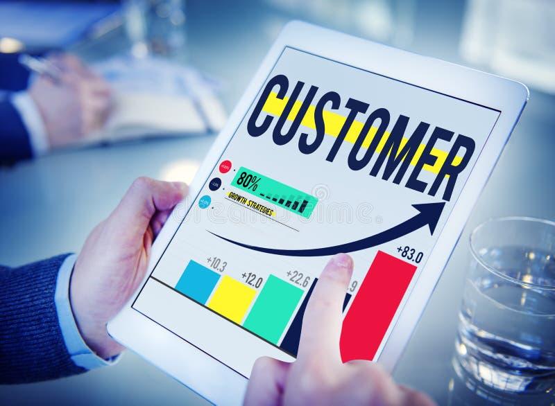 Conceito da lealdade do serviço da satisfação de consumidor do cliente do cliente foto de stock