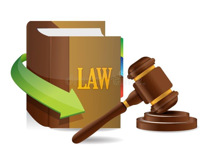 Conceito da legislação. Equilíbrio e livro ilustração royalty free