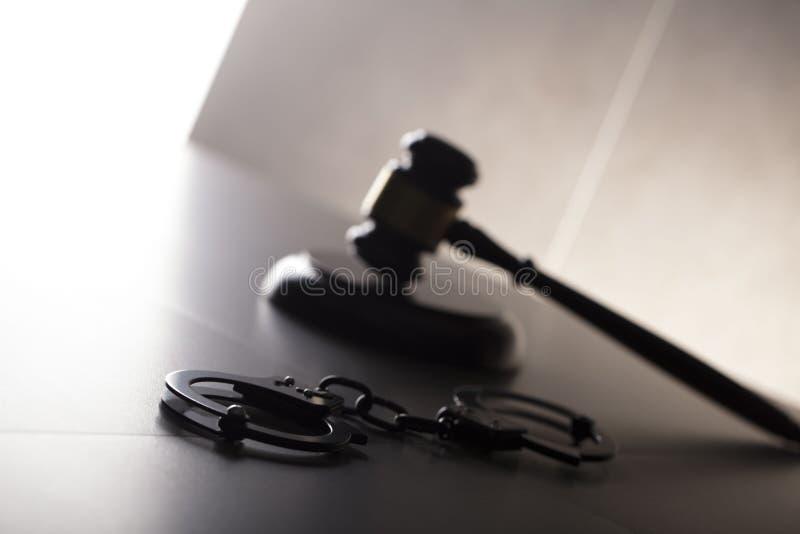 Conceito da lei criminal Lugar para o texto fotos de stock