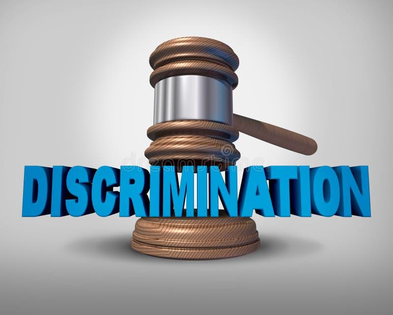 Conceito da lei da discriminação ilustração do vetor