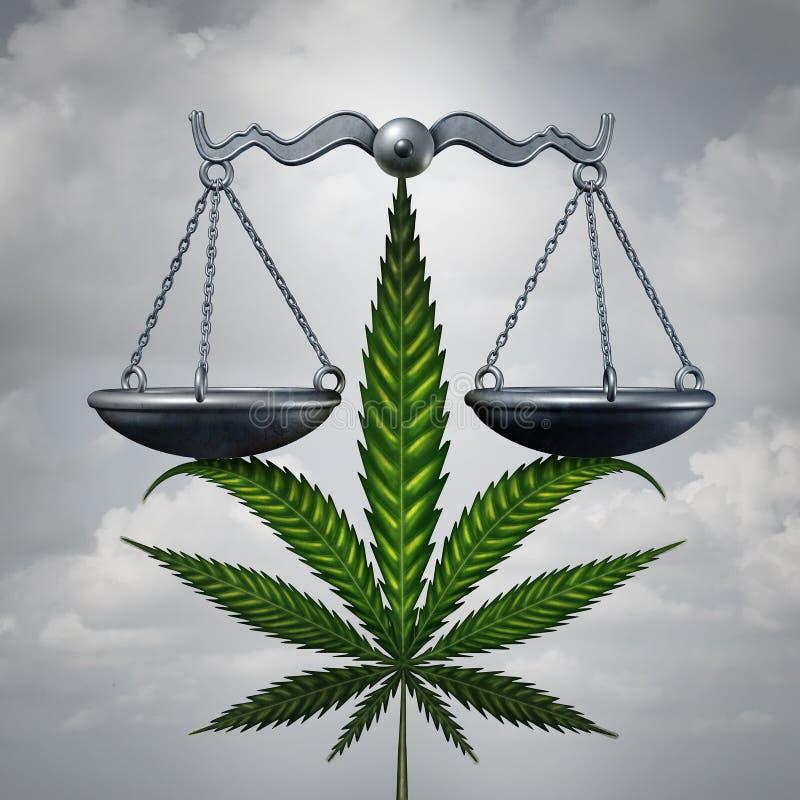 Conceito da lei da marijuana ilustração stock