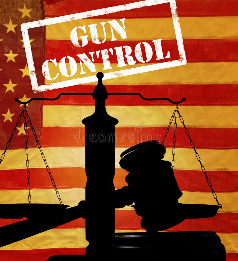 Conceito da lei de controlo de armas imagem de stock royalty free