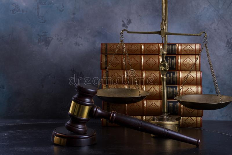 Conceito da lei e da justiça foto de stock