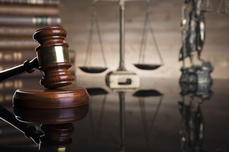 Conceito da lei e da justiça Lugar para o logotipo, o texto ou a tipografia fotografia de stock royalty free