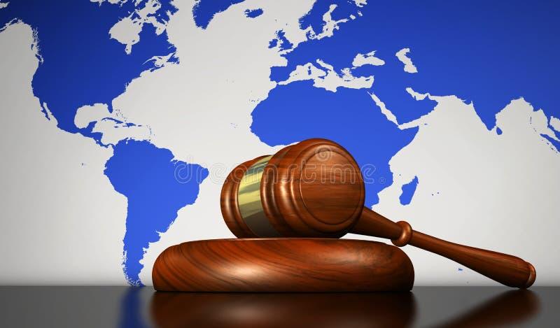 Conceito da lei internacional e dos direitos humanos ilustração stock