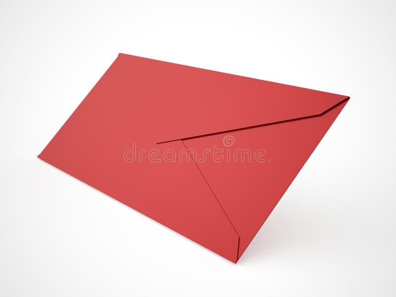 Conceito da letra do envelope rendido no branco ilustração stock