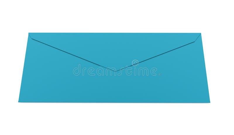 Conceito da letra do envelope rendido no branco ilustração royalty free
