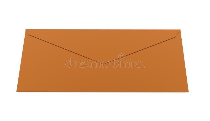 Conceito da letra do envelope rendido no branco ilustração do vetor