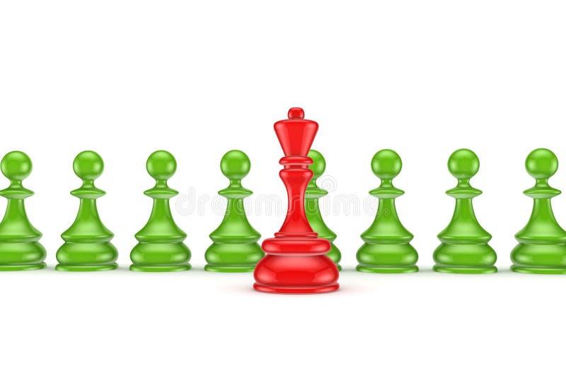 Conceito da liderança. ilustração stock