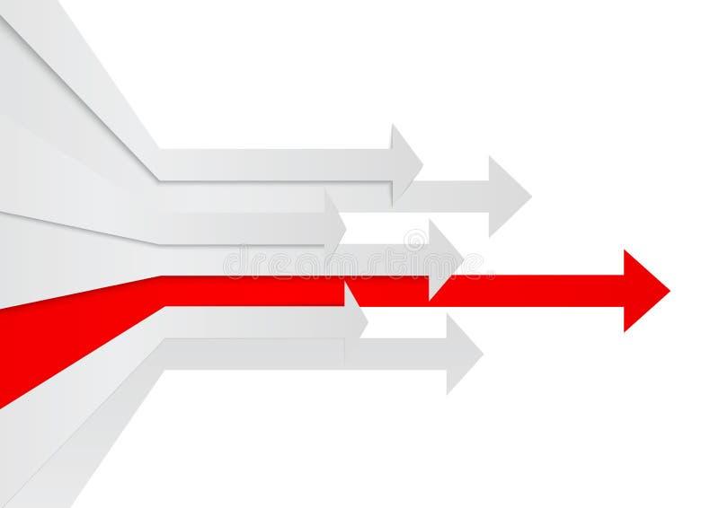 Conceito da liderança das setas da perspectiva ilustração do vetor