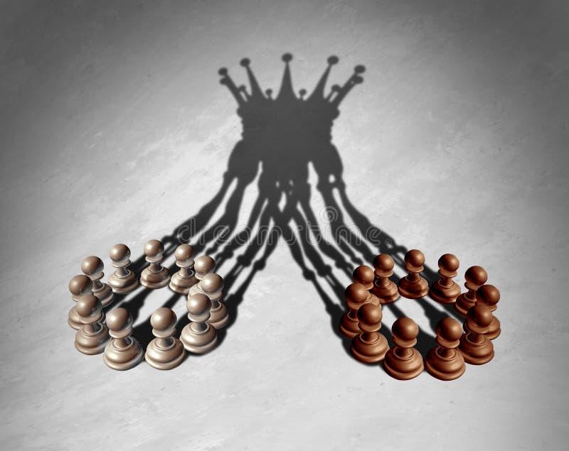 Conceito da liderança de unidade de negócio ilustração do vetor