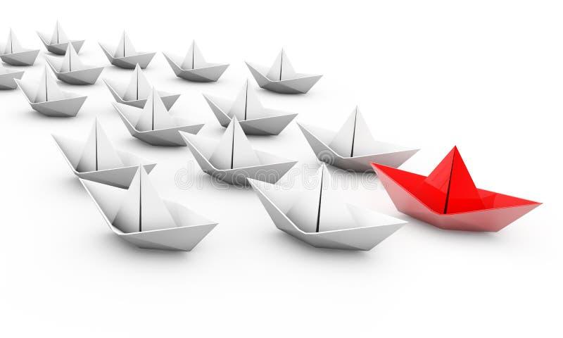 Conceito da liderança, em branco ilustração do vetor