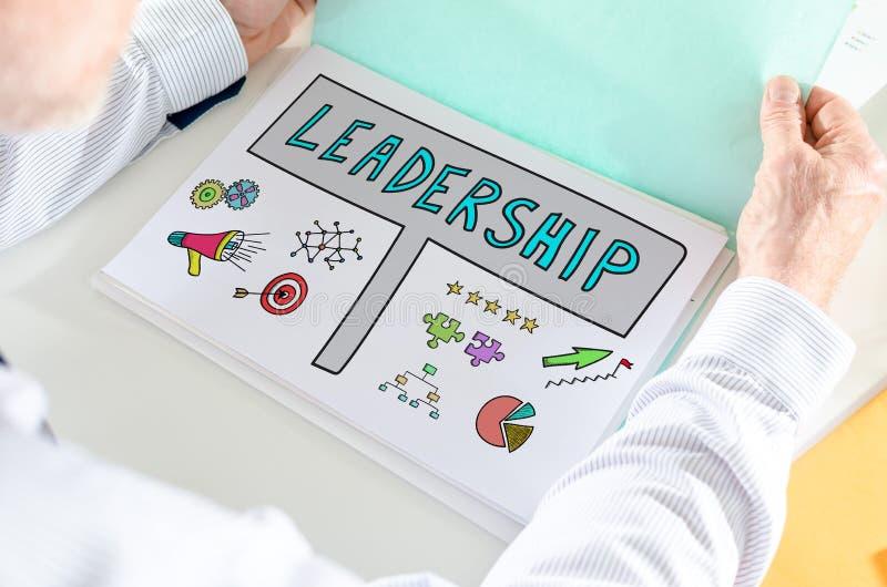Conceito da liderança em um papel fotografia de stock