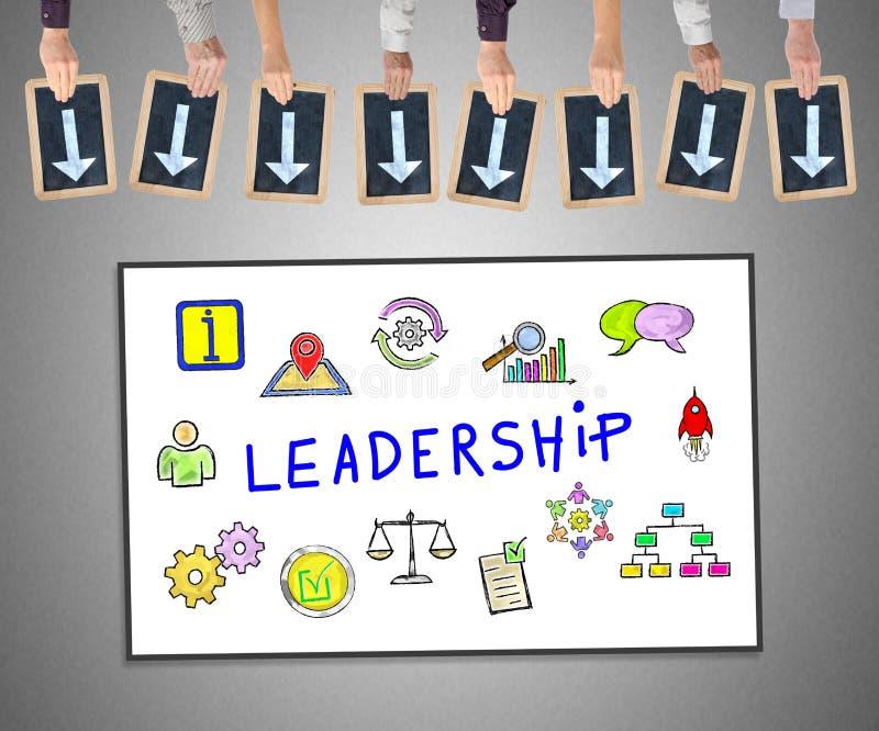 Conceito da liderança em um whiteboard ilustração royalty free