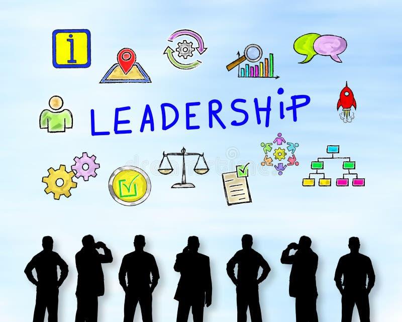 Conceito da liderança em uma parede ilustração stock