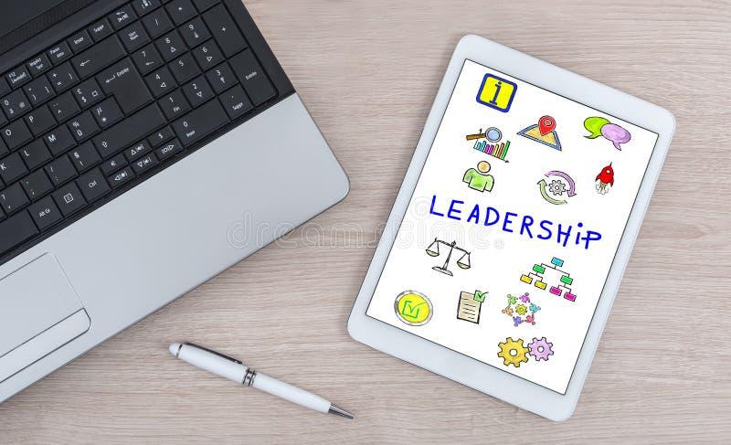 Conceito da liderança em uma tabuleta digital imagem de stock royalty free