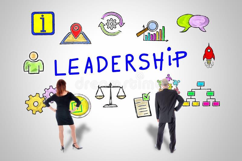 Conceito da liderança olhado por executivos ilustração stock