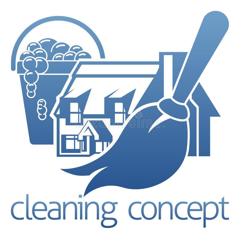 Conceito da limpeza da casa ilustração stock
