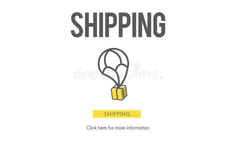 Conceito da logística da exportação da importação do frete do portador do transporte ilustração royalty free