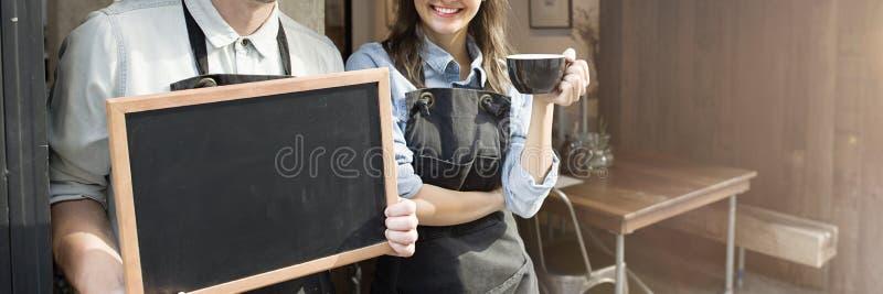Conceito da loja de Barista Staff Working Coffee imagens de stock