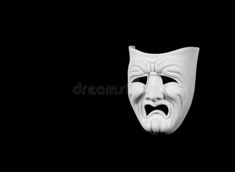 Conceito da máscara da tragédia fotos de stock royalty free