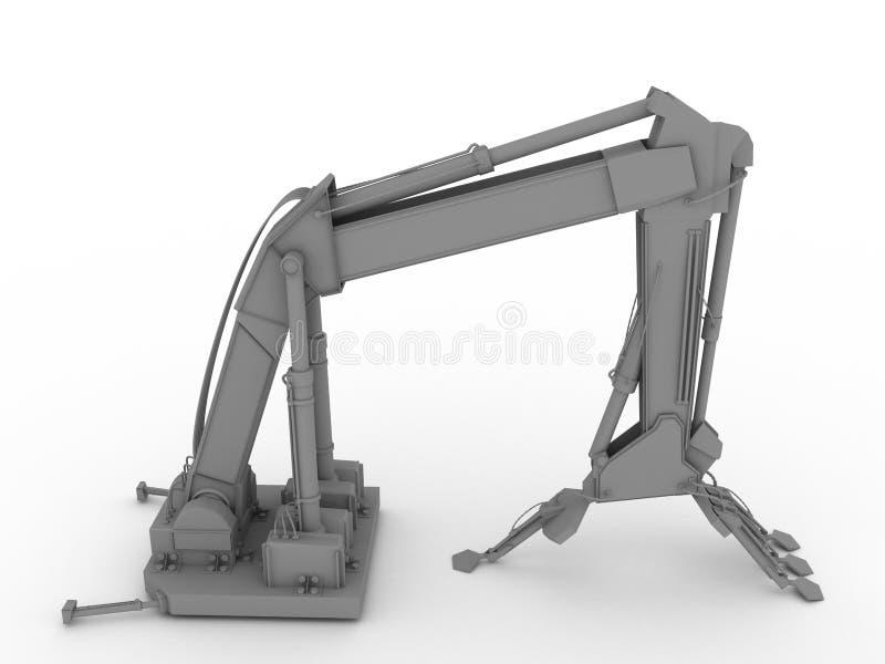 conceito da mão do mecânico 3d ilustração do vetor