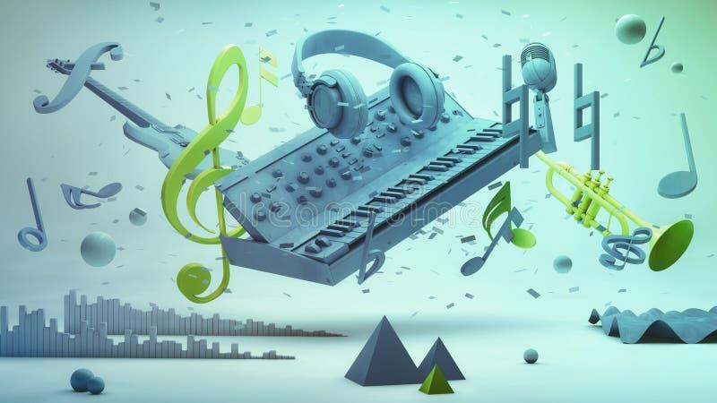 Conceito da música ilustração royalty free