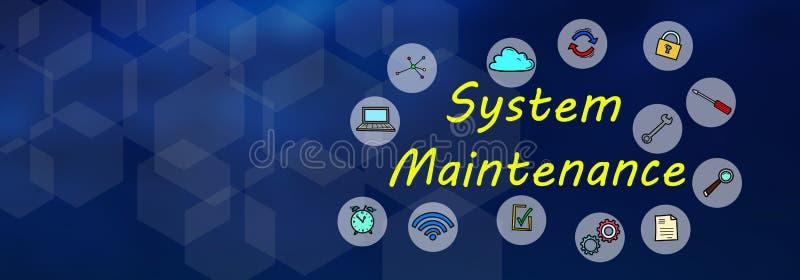 Conceito da manutenção de sistema ilustração stock