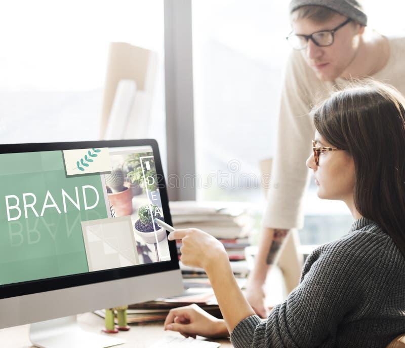 Conceito da marca registrada do perfil de mercado da etiqueta de marcagem com ferro quente do tipo fotos de stock royalty free