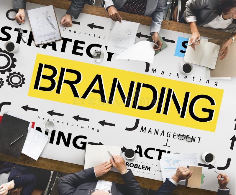 Conceito da marca registrada do perfil de mercado da etiqueta de marcagem com ferro quente do tipo imagens de stock royalty free