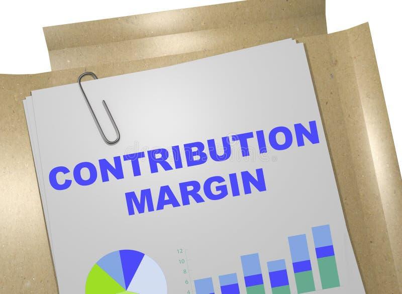 Conceito da margem de contribuição ilustração stock