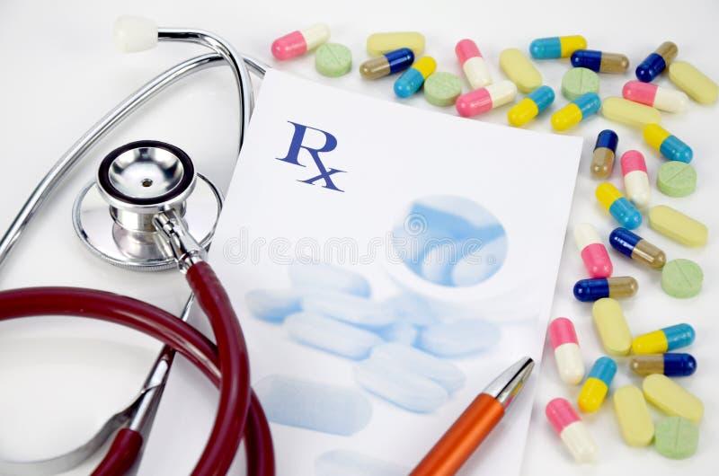 Conceito da medicamentação da prescrição fotografia de stock