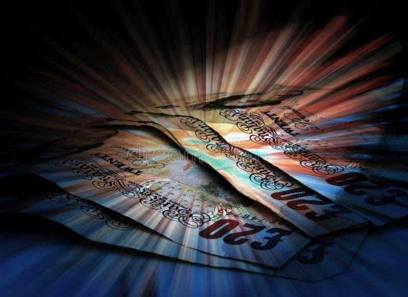 Conceito da moeda da libra ilustração royalty free