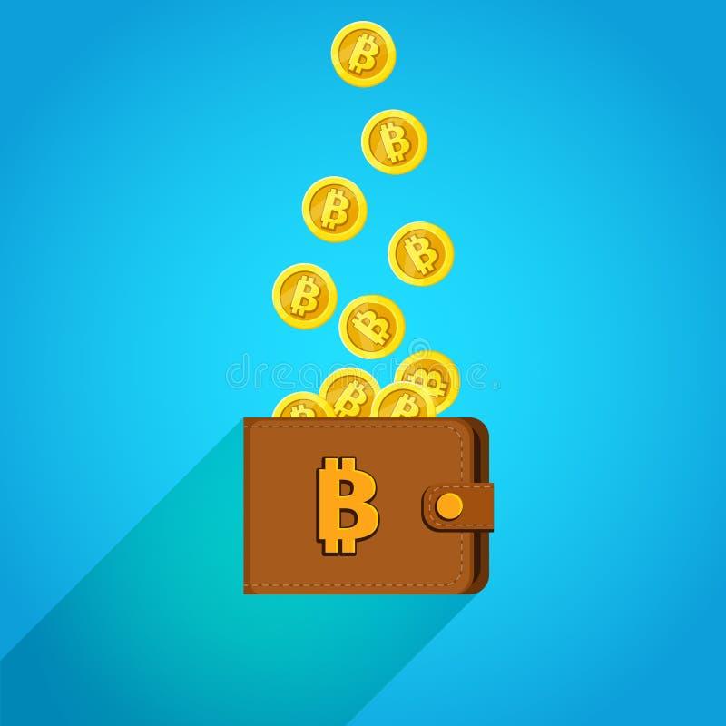 Conceito da moeda digital ilustração stock