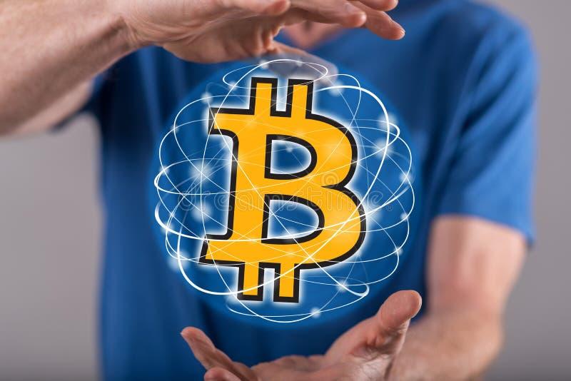 Conceito da moeda do bitcoin fotografia de stock royalty free