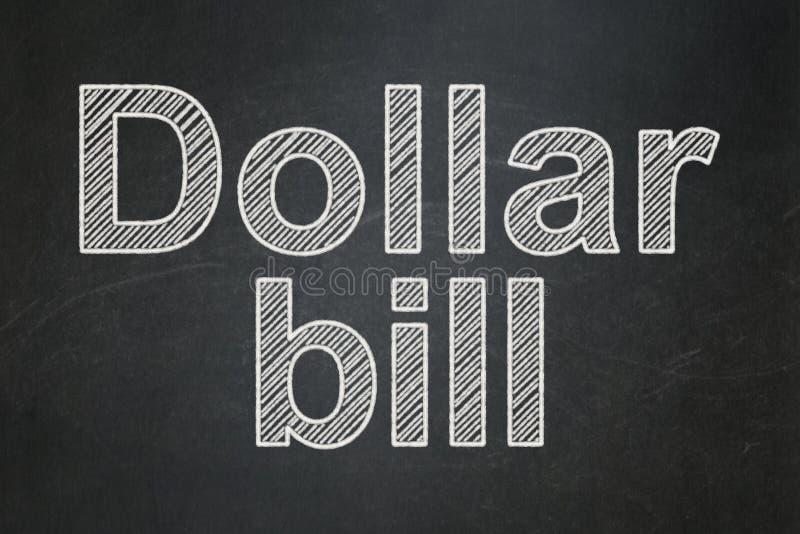 Conceito da moeda: Nota de dólar no fundo do quadro imagem de stock royalty free