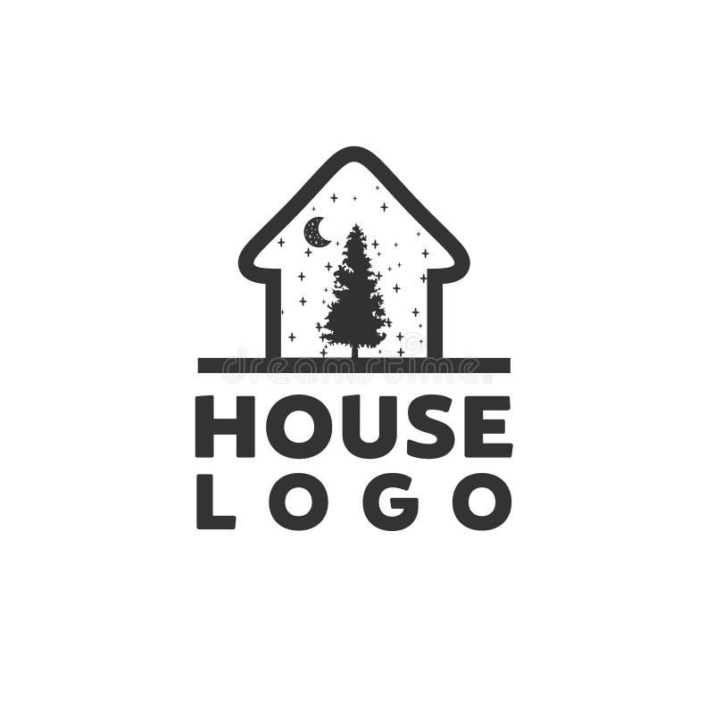 Conceito da montanha e da casa ilustração royalty free