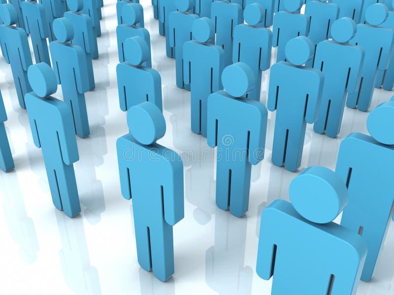 Conceito da multidão dos povos ilustração do vetor