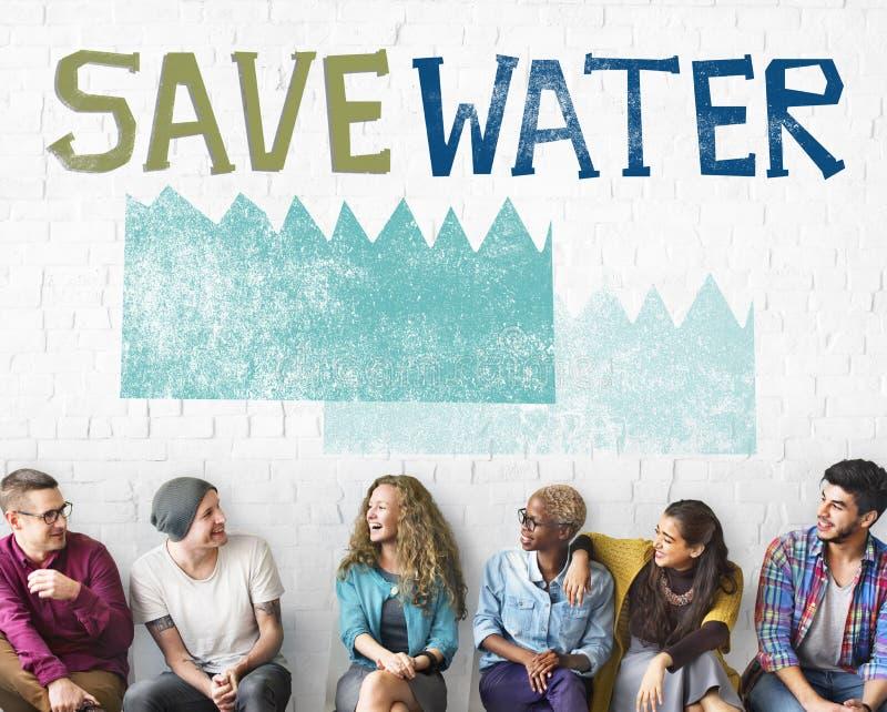 Conceito da natureza da sustentabilidade da conservação de água da ecologia fotos de stock