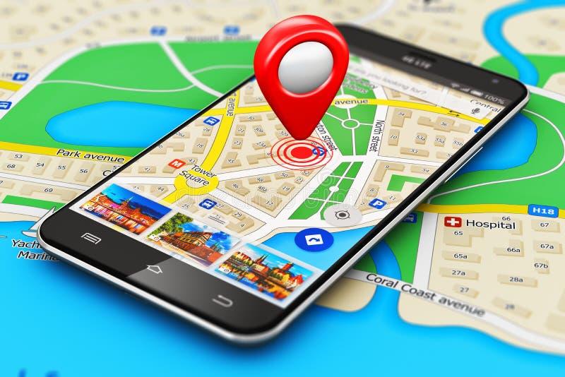 Conceito da navegação de GPS ilustração stock