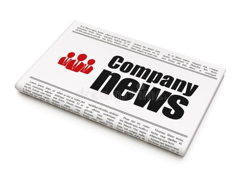 Conceito da notícia da notícia: jornal com notícia e negócio da empresa ilustração do vetor