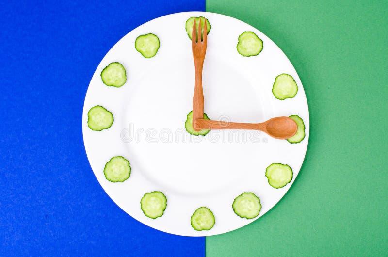 Conceito da nutrição dietética, estilo de vida saudável, menu do vegetariano foto de stock