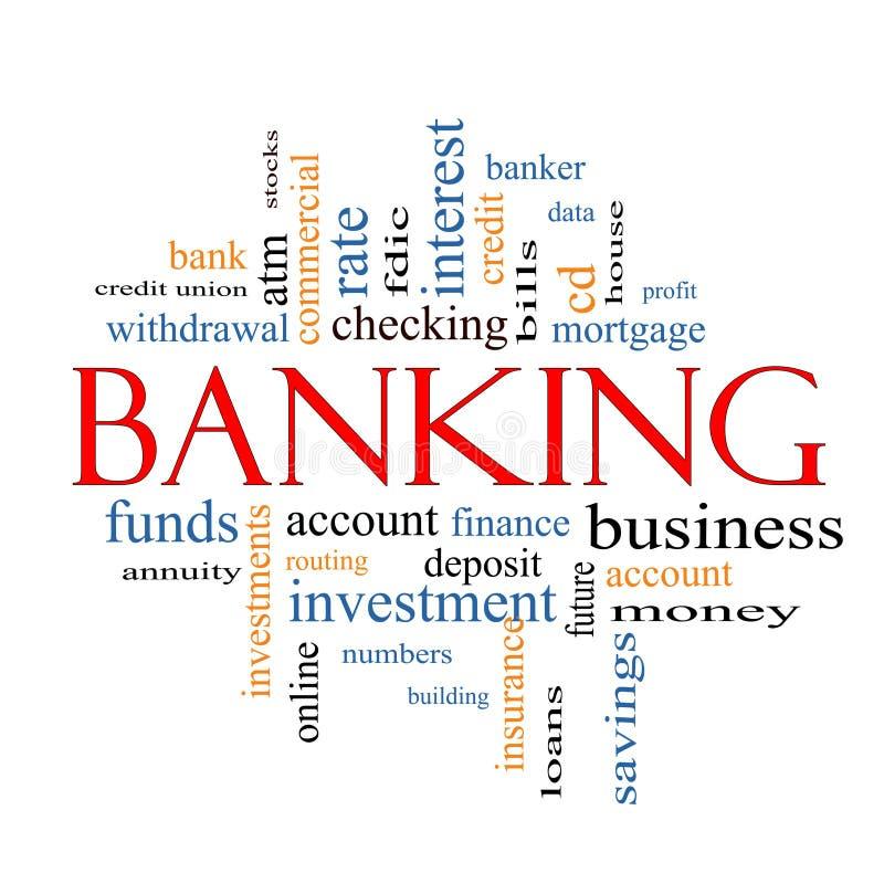 Conceito da nuvem da palavra da operação bancária ilustração royalty free