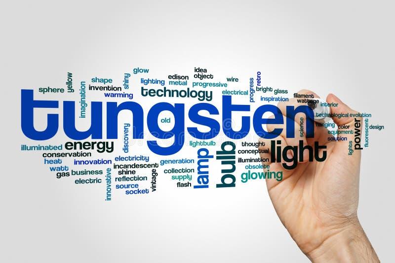 Conceito da nuvem da palavra do tungstênio imagens de stock