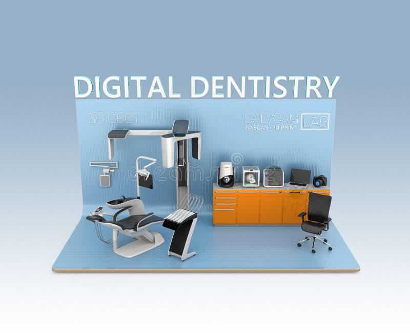 Conceito da odontologia de Digitas ilustração royalty free