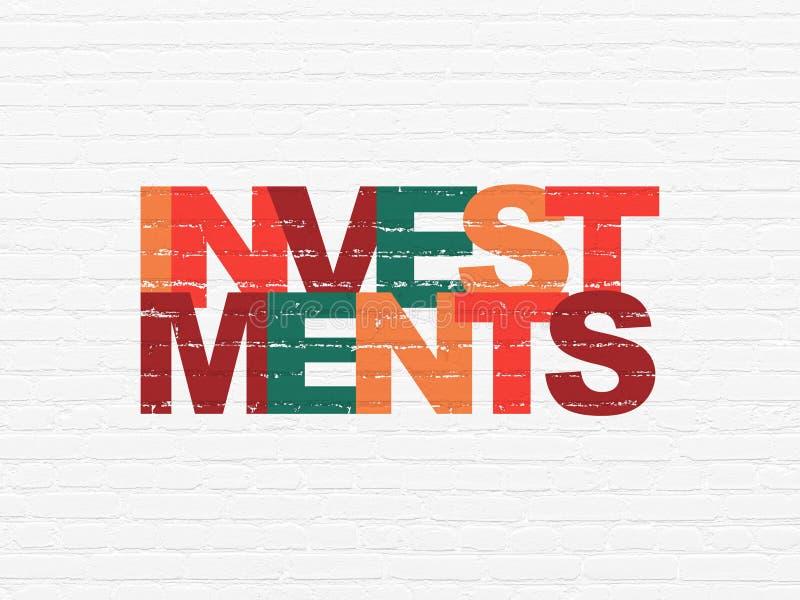 Conceito da operação bancária: Investimentos no fundo da parede ilustração do vetor