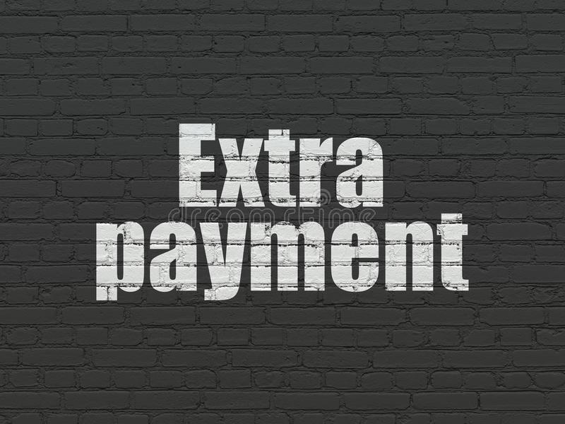 Conceito da operação bancária: Pagamento extra no fundo da parede ilustração royalty free