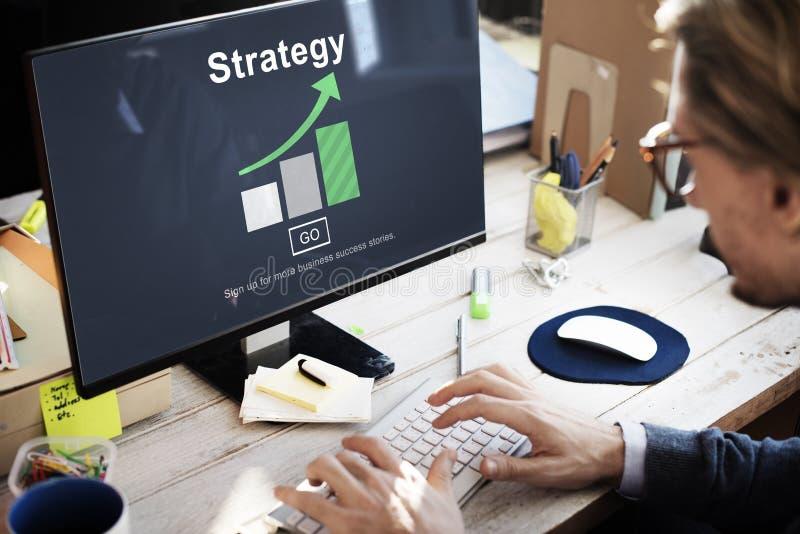 Conceito da operação do processo de planeamento da visão da estratégia foto de stock royalty free