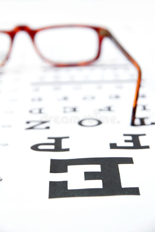 Conceito da optometria fotos de stock